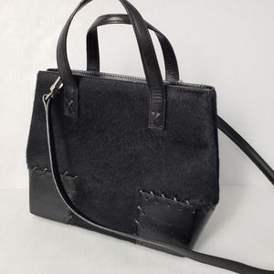 Cole Haan black calf hair handbag